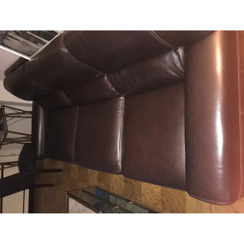 Bloomingdale's Brown Leather Sofa-4
