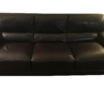 Bloomingdale's Brown Leather Sofa