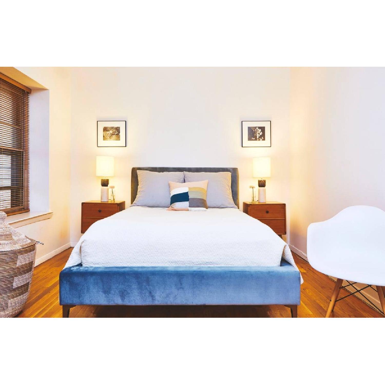 West Elm Andes Deco Upholstered Bed Frame-0