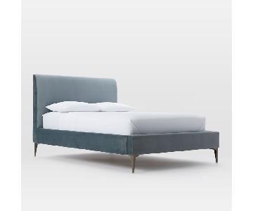 West Elm Andes Deco Upholstered Bed Frame
