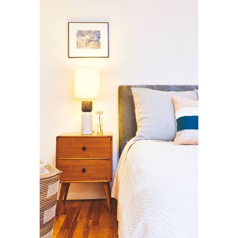 West Elm Andes Deco Upholstered Bed Frame-4
