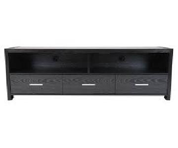 Black Oak TV Console w/ 3 Drawers