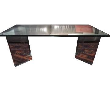Custom Made Glass Coffee Table