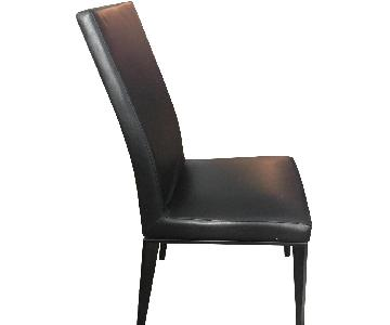 Calligaris Black Leather Dining Chairs