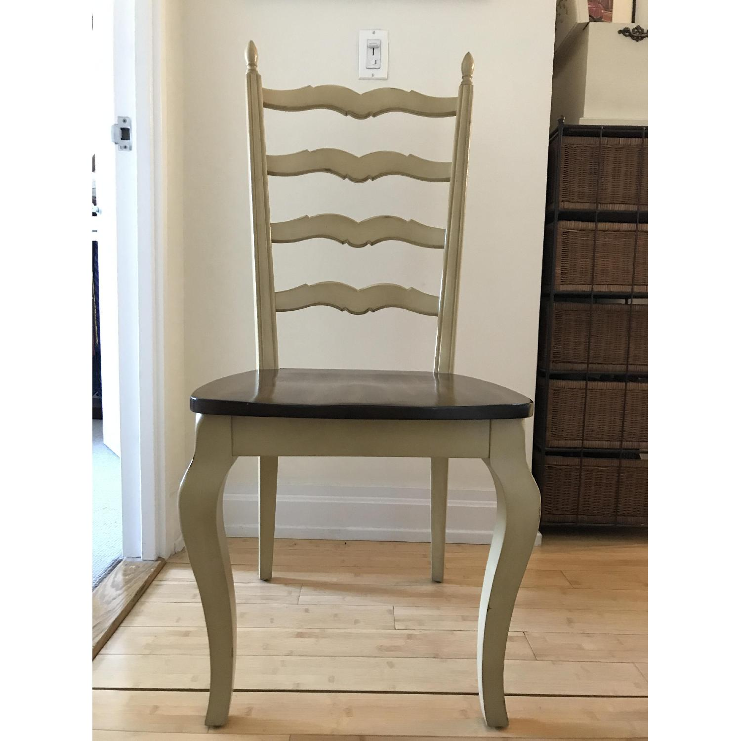 Pier 1 Francesca Antique Ivory Dining Chair-0