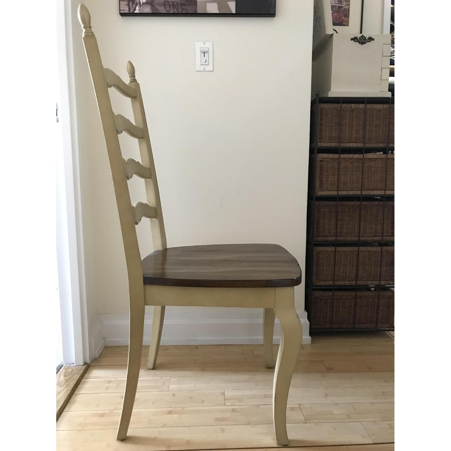 Pier 1 Francesca Antique Ivory Dining Chair-1