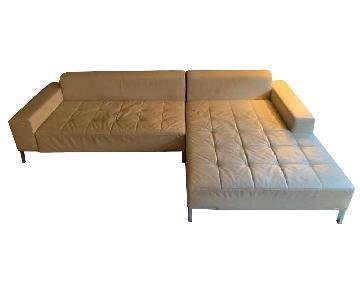 Zanotta Alfa Bone Leather Sectional Sofa