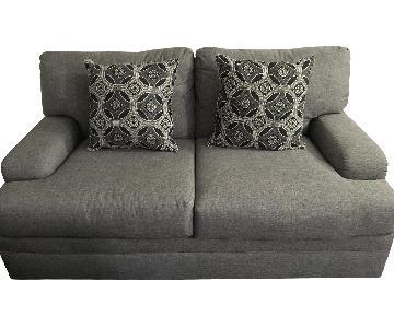 Light Grey Loveseat w/ Pillows