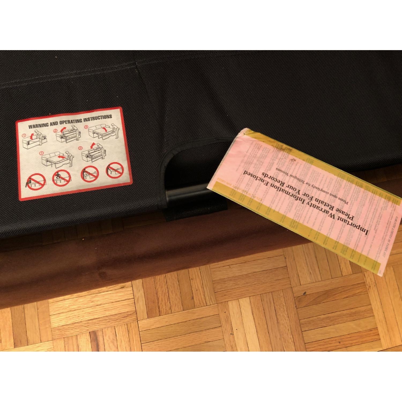 Metropia Brown Suede Sleeper Sofa-1