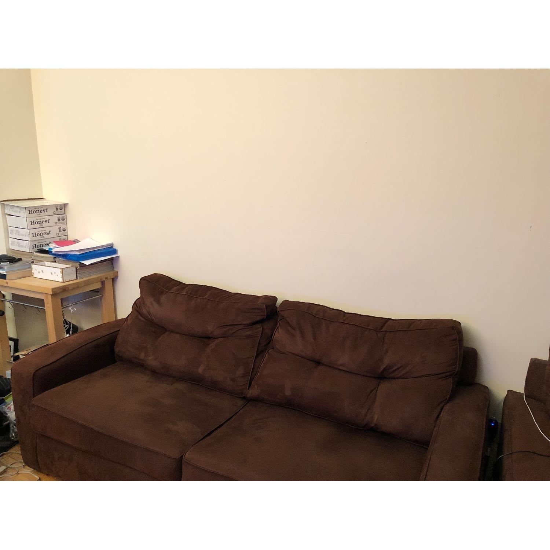 Metropia Brown Suede Sleeper Sofa-2
