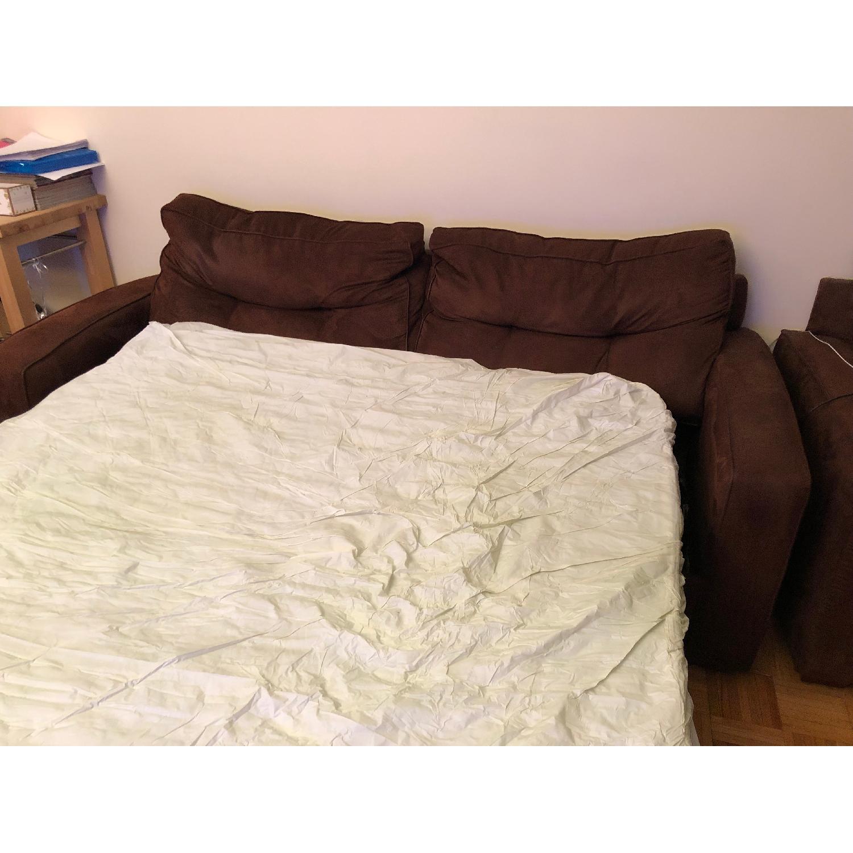 Metropia Brown Suede Sleeper Sofa-4
