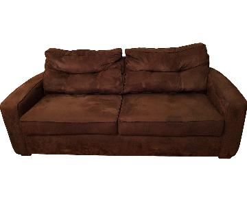 Metropia Brown Suede Sleeper Sofa