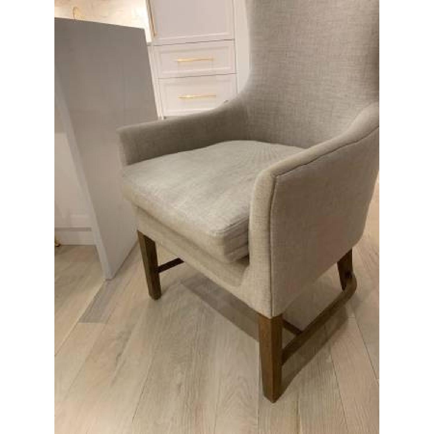Restoration Hardware Linen Upholstered Accent Chair-1