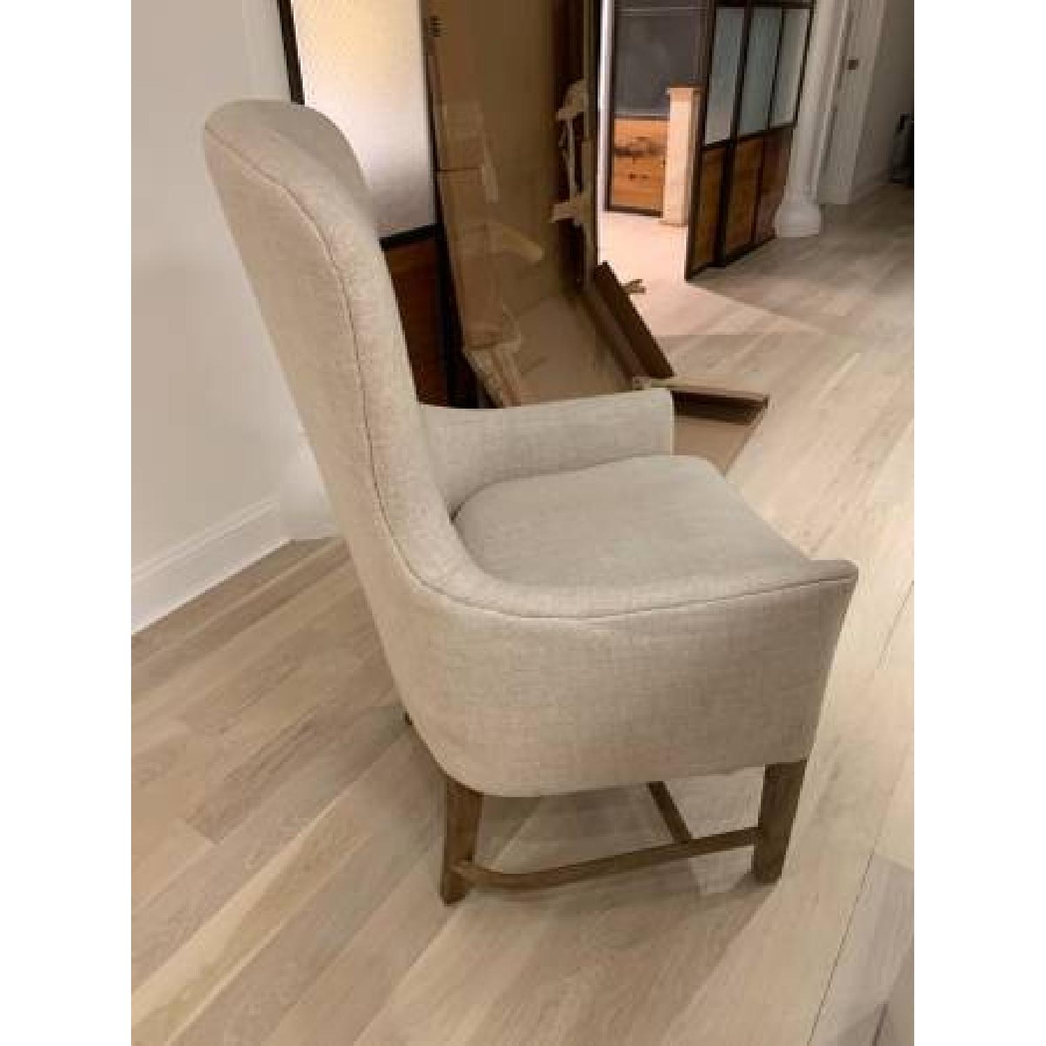 Restoration Hardware Linen Upholstered Accent Chair-2