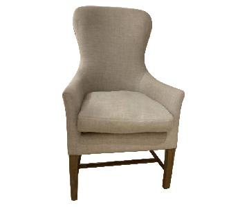 Restoration Hardware Linen Upholstered Accent Chair