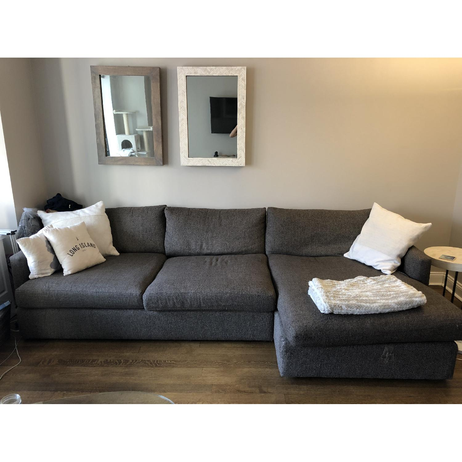 Crate & Barrel Lounge II Left Chaise Sectional Sofa-0