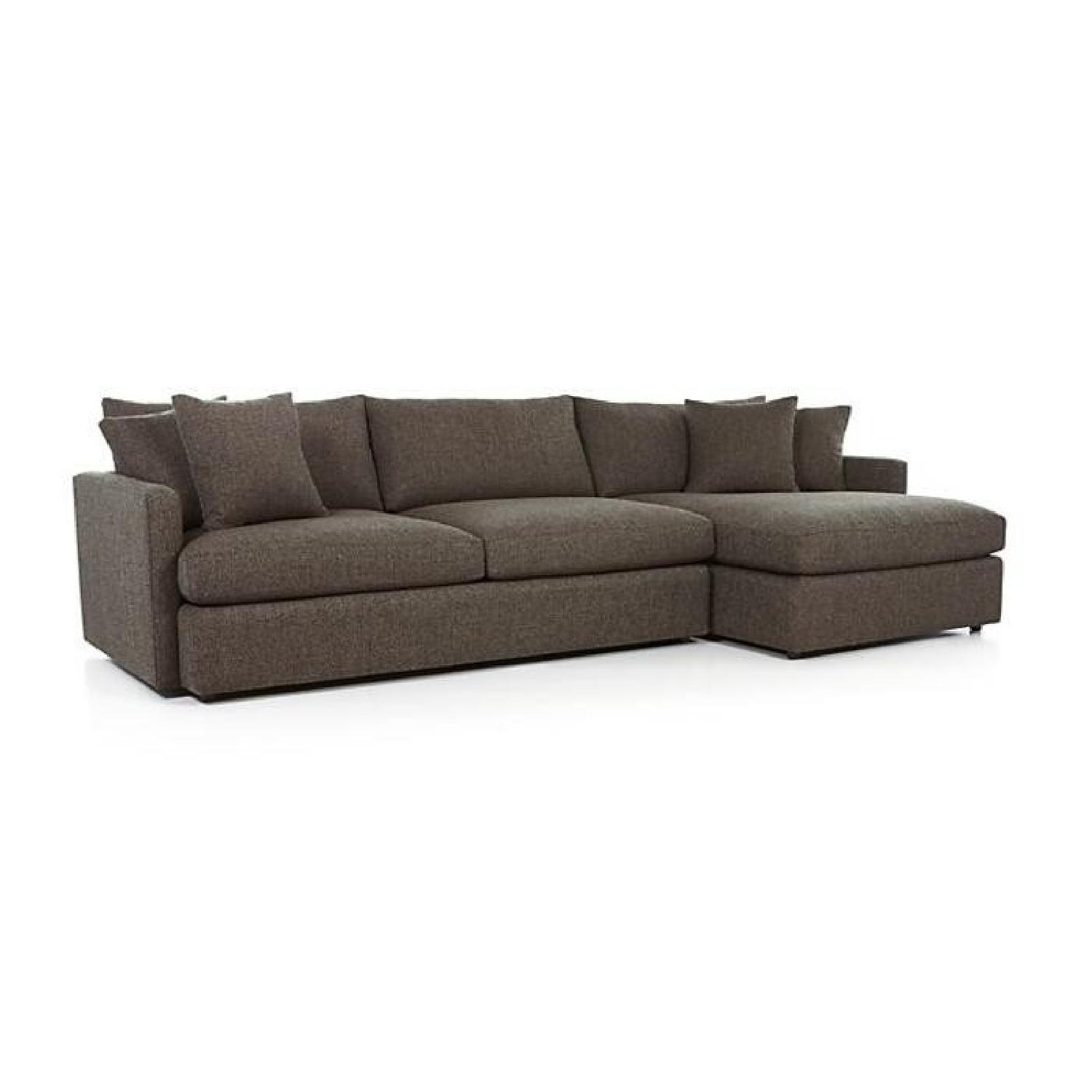 Crate & Barrel Lounge II Left Chaise Sectional Sofa
