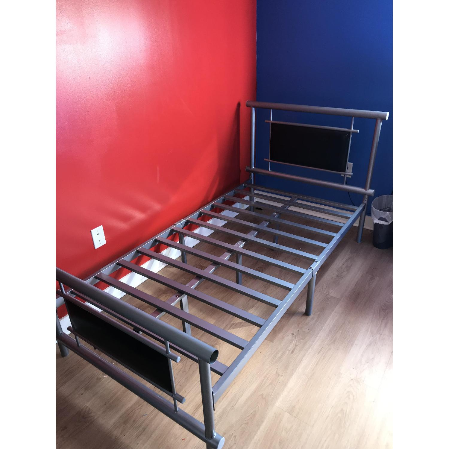 Black Metal Twin Size Bed Frame-0