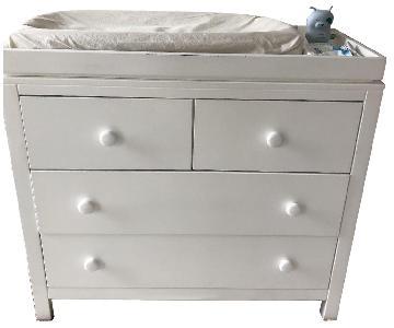 Custom White Baby Dresser w/ Naturpedic Organic Changing Pad