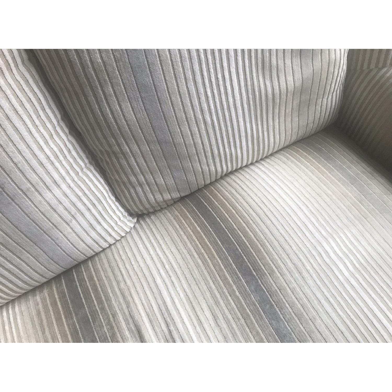 White Velvet Upholstered Sofa-1