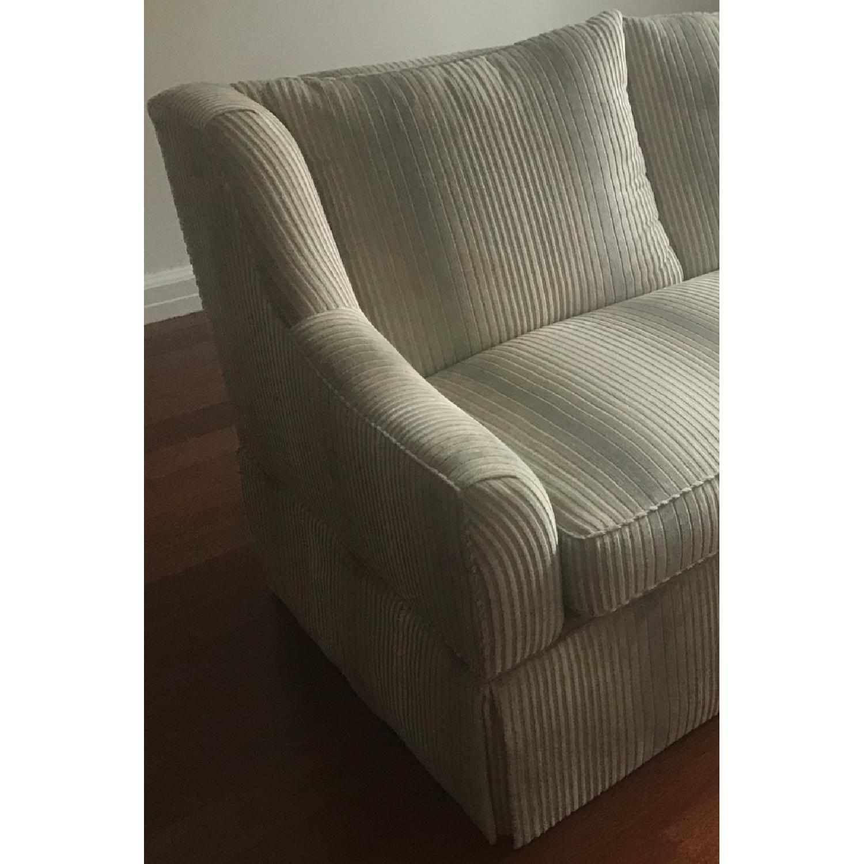 White Velvet Upholstered Sofa-2
