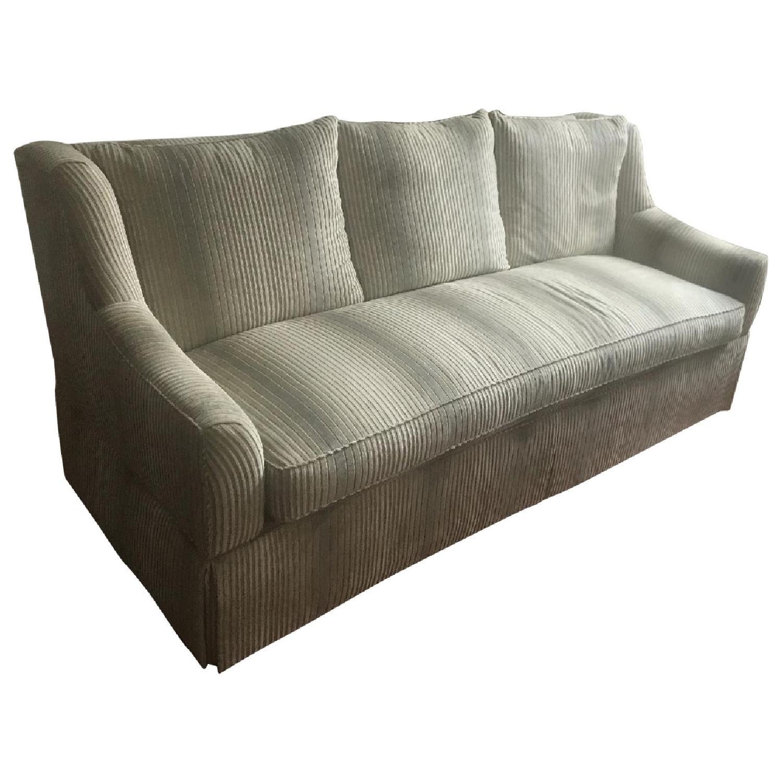 White Velvet Upholstered Sofa