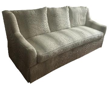 White Velvet Upholstered Sofa