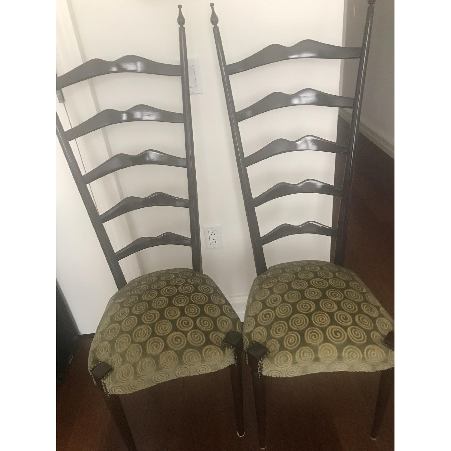 Black Upholstered Dining Chairs-0