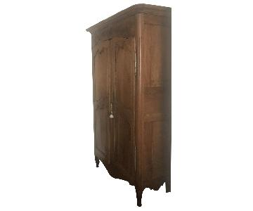 Antique Delicate Wood Armoire