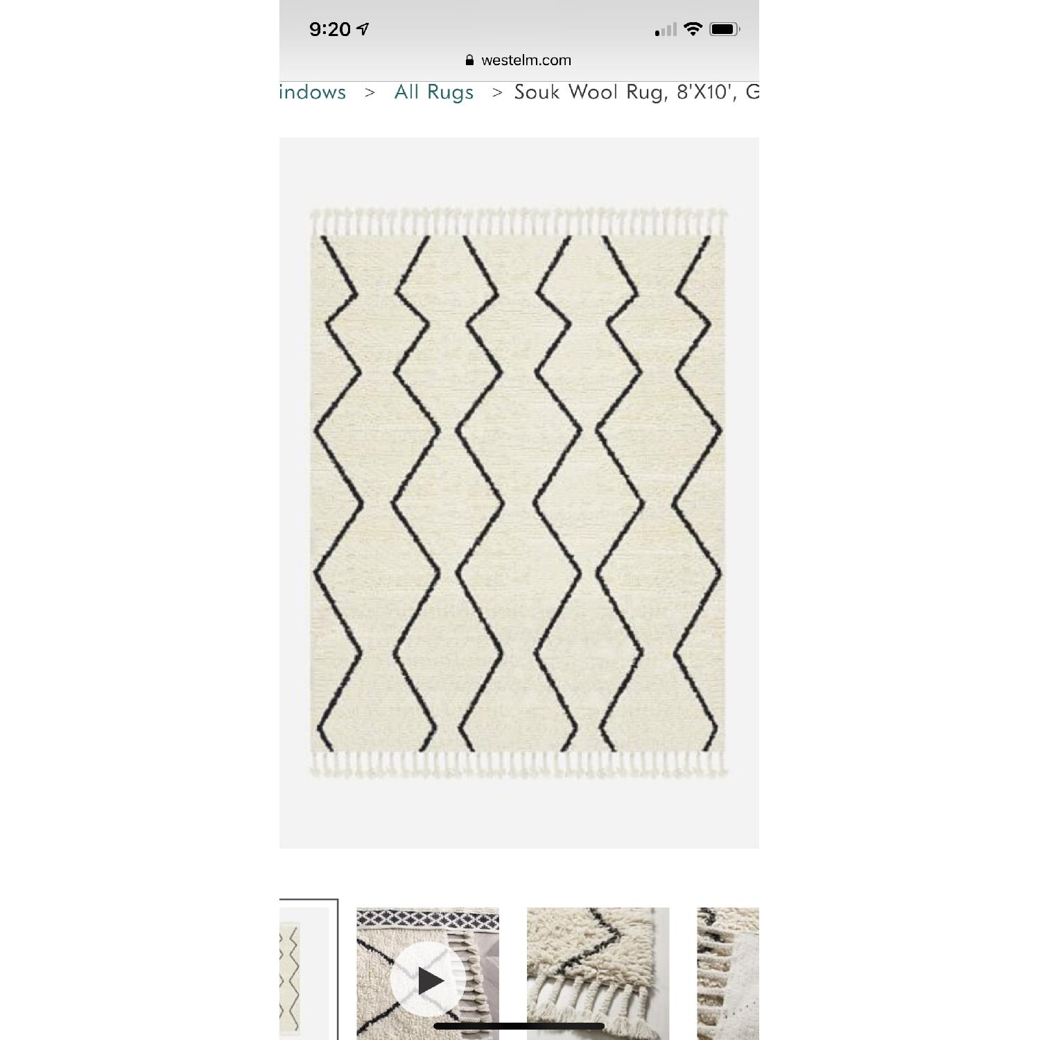 West Elm Souk Wool Rug in Natural Graphite-1