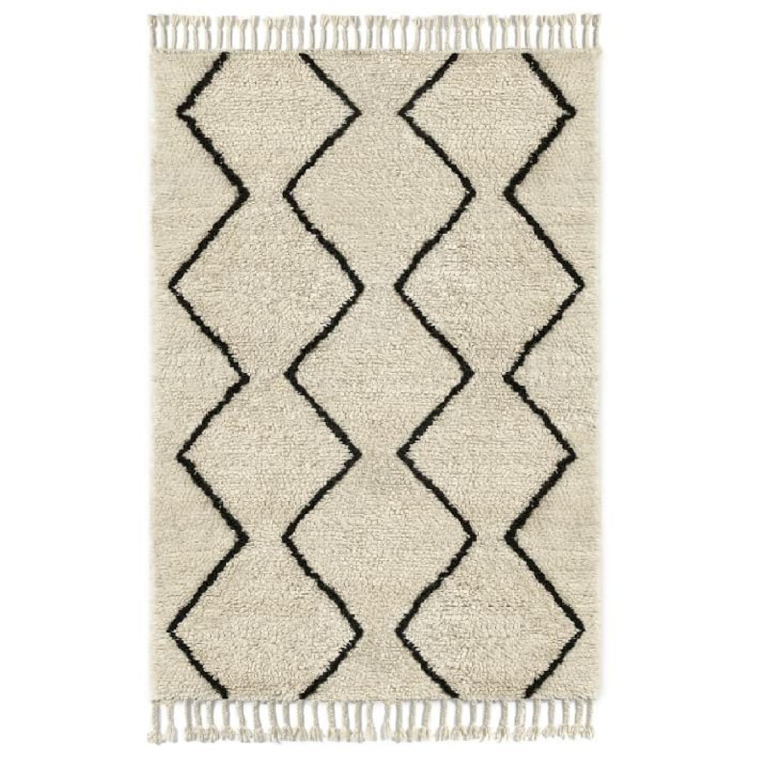West Elm Souk Wool Rug in Natural Graphite