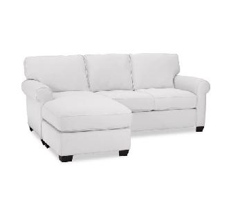 Pottery Barn Buchanan White Sectional Sofa