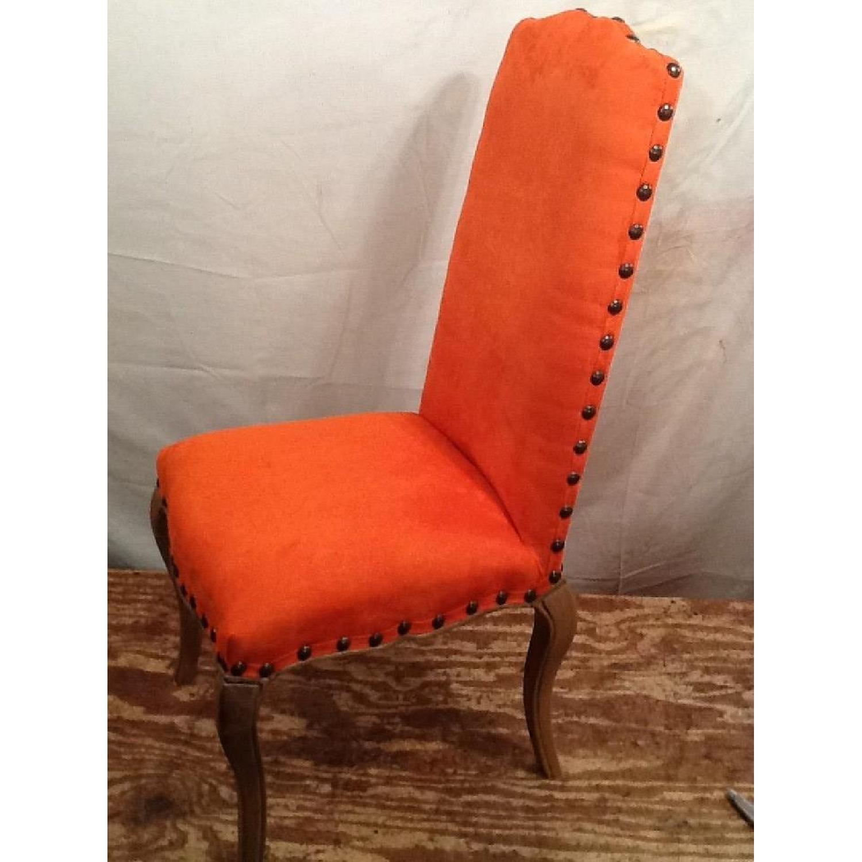 High Back Orange Accent Chair-0
