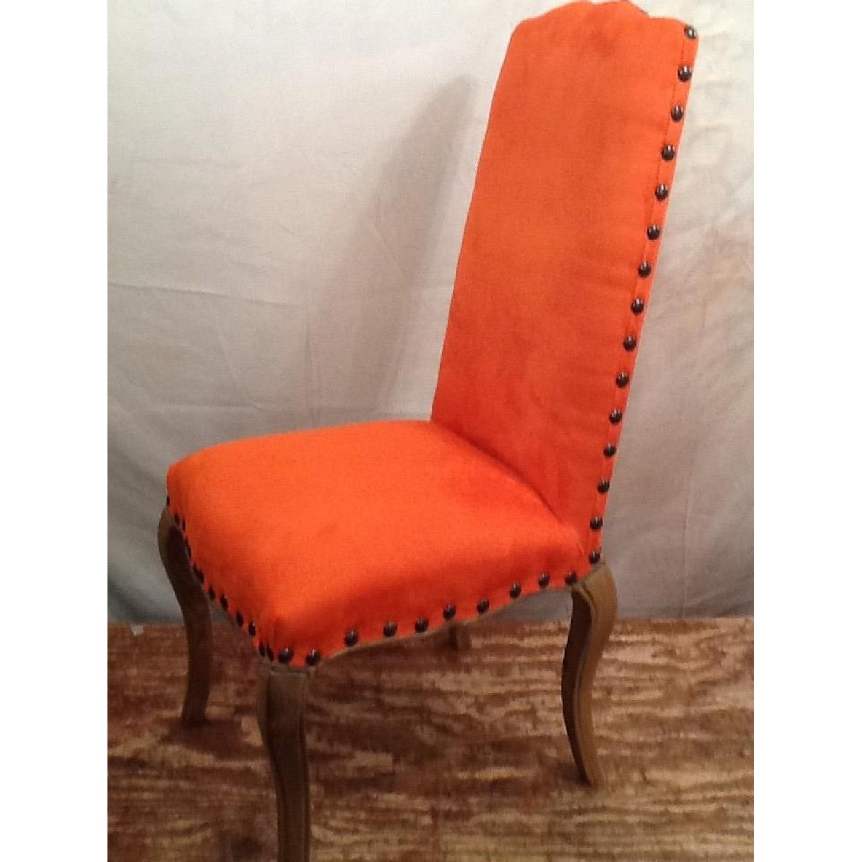 High Back Orange Accent Chair-1