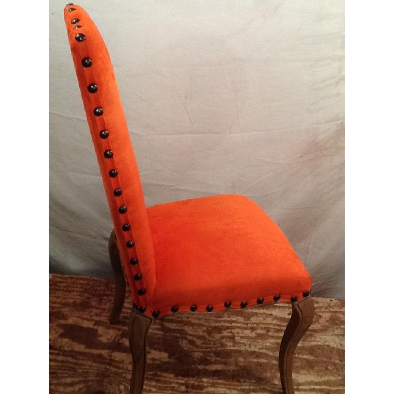 High Back Orange Accent Chair-3