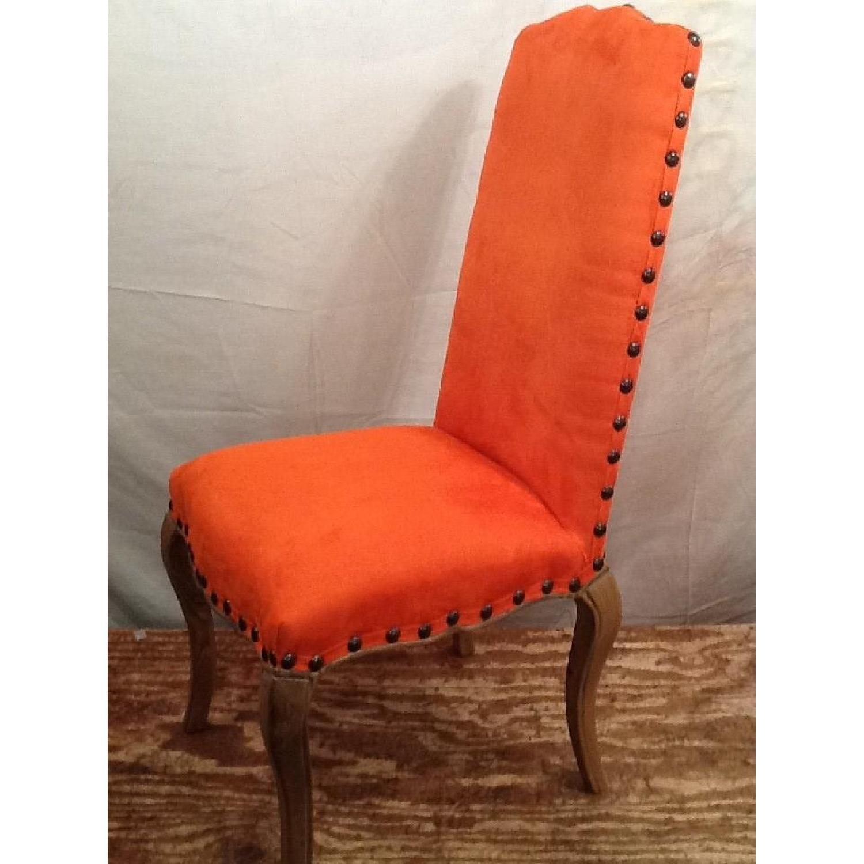High Back Orange Accent Chair-4