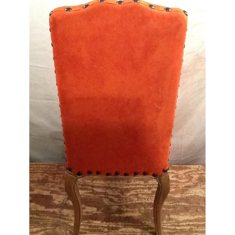 High Back Orange Accent Chair-6