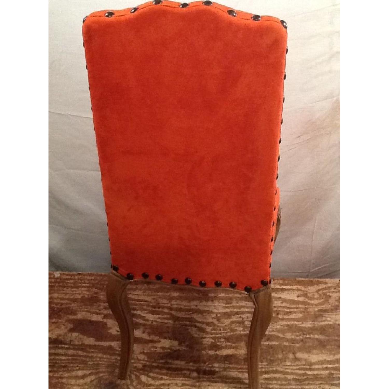 High Back Orange Accent Chair-8