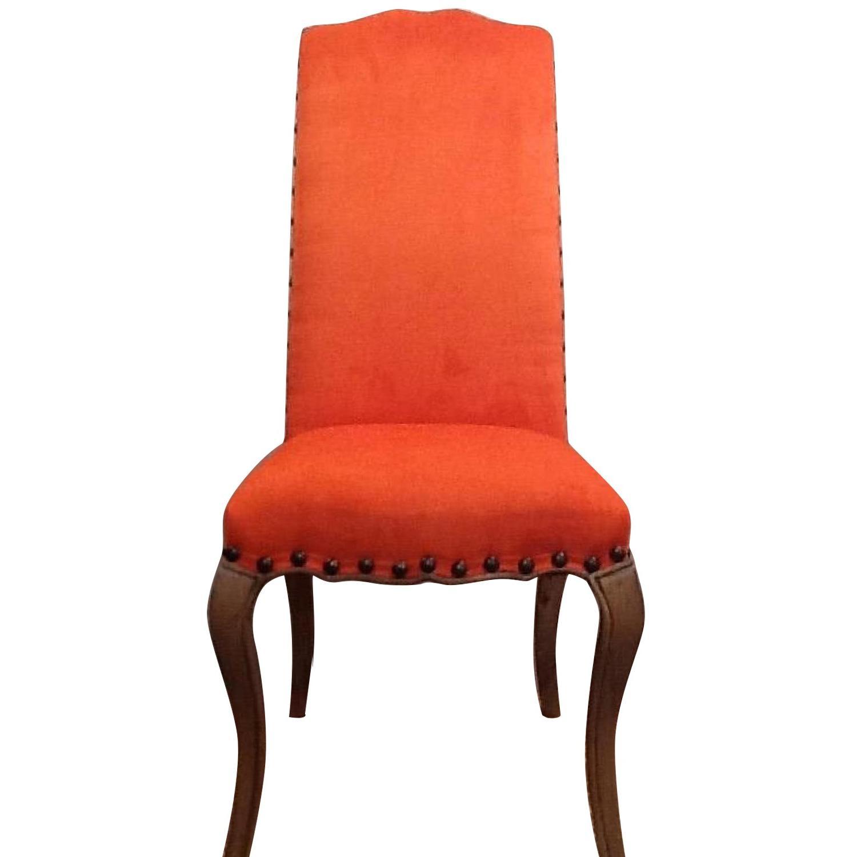 High Back Orange Accent Chair