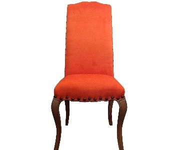 High Back Orange Accent Chair