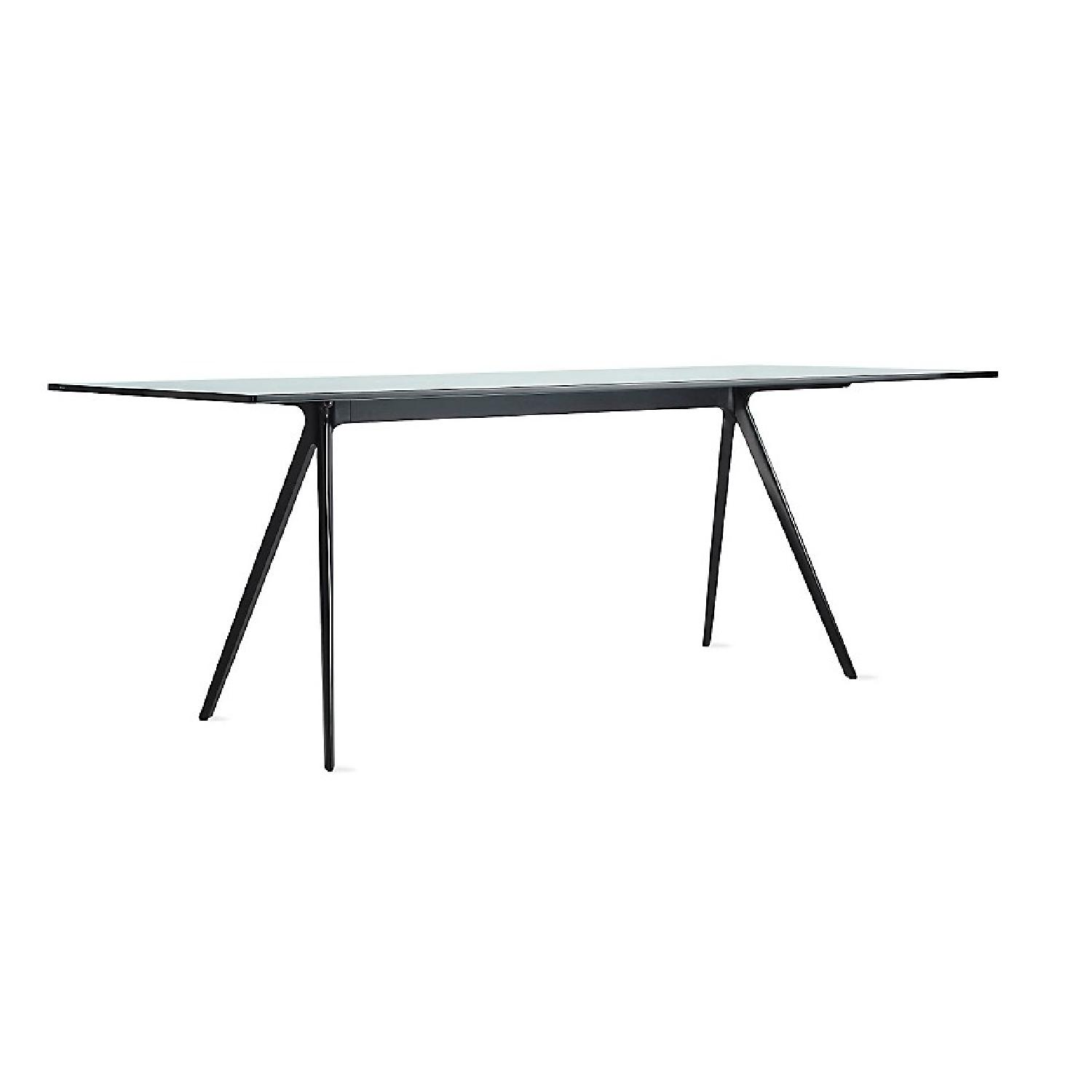 Design Within Reach Baguette Glass Top Dining Table
