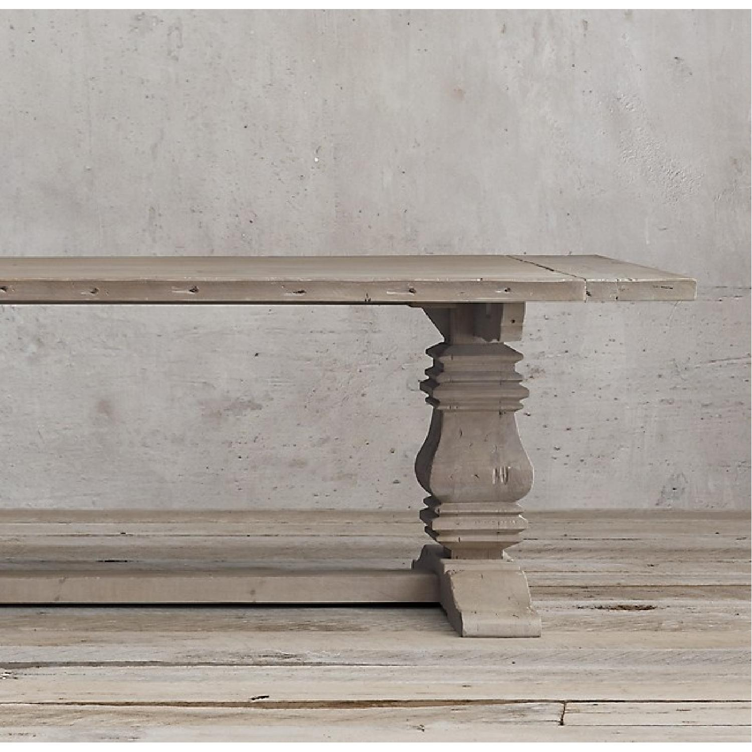 Restoration Hardware Salvaged Wood Trestle Dining Table-0