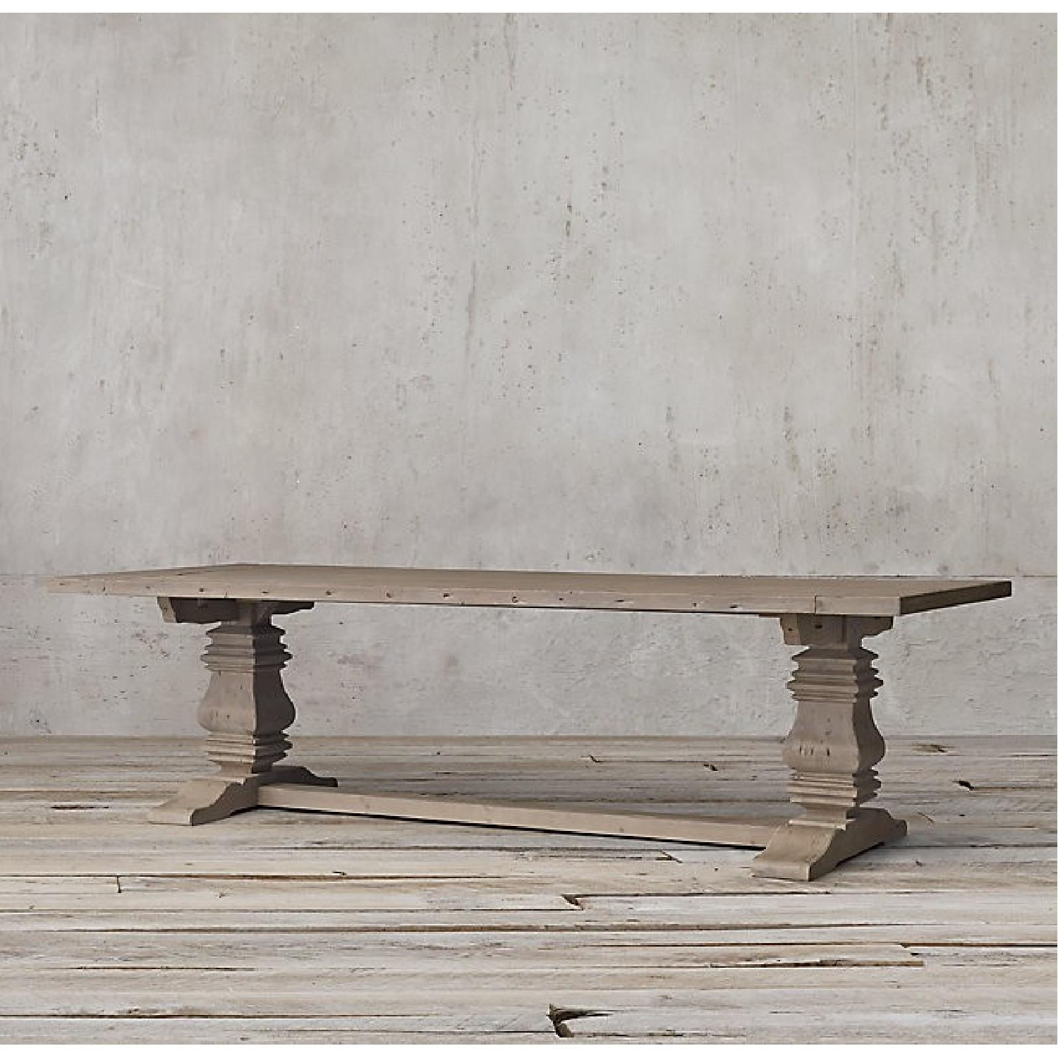 Restoration Hardware Salvaged Wood Trestle Dining Table-2