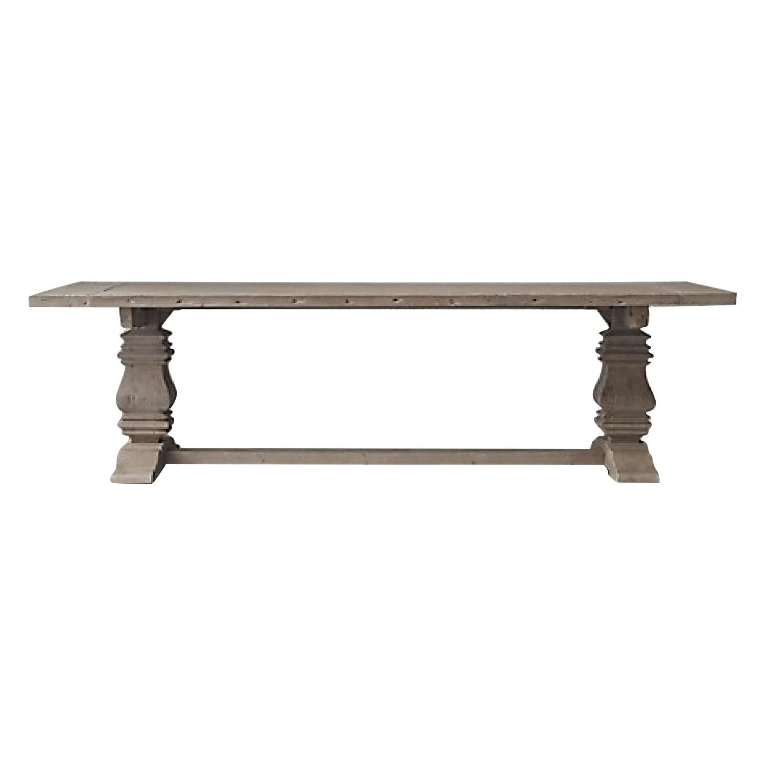 Restoration Hardware Salvaged Wood Trestle Dining Table