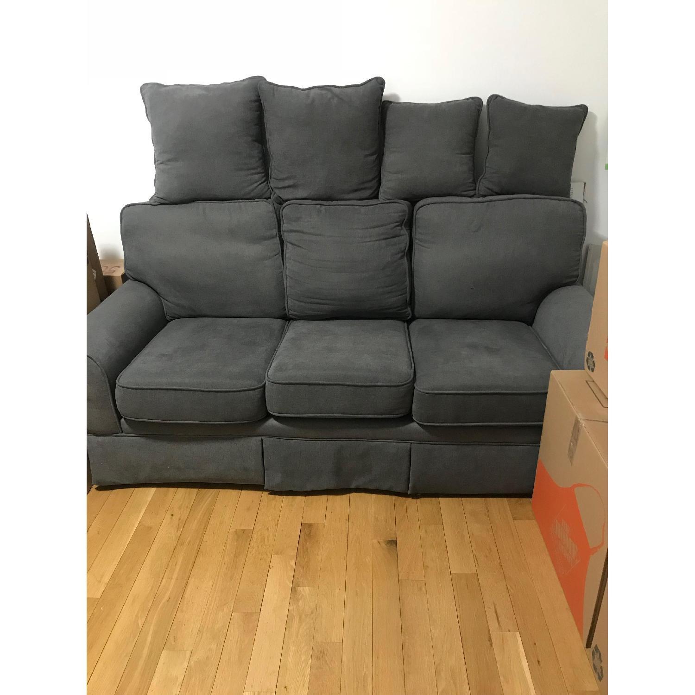 Bob's Dark Grey 3-Seater Sofa-0