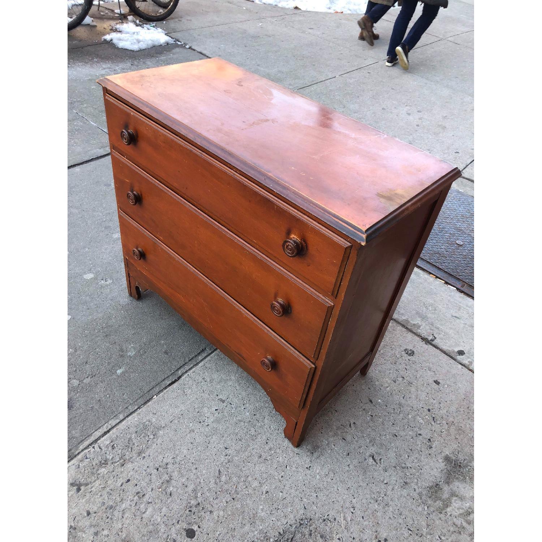 Antique 1930s Solid Wood 3 Drawer Dresser-4