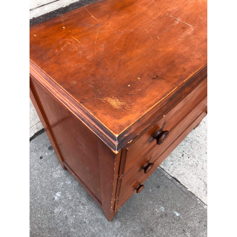 Antique 1930s Solid Wood 3 Drawer Dresser-6