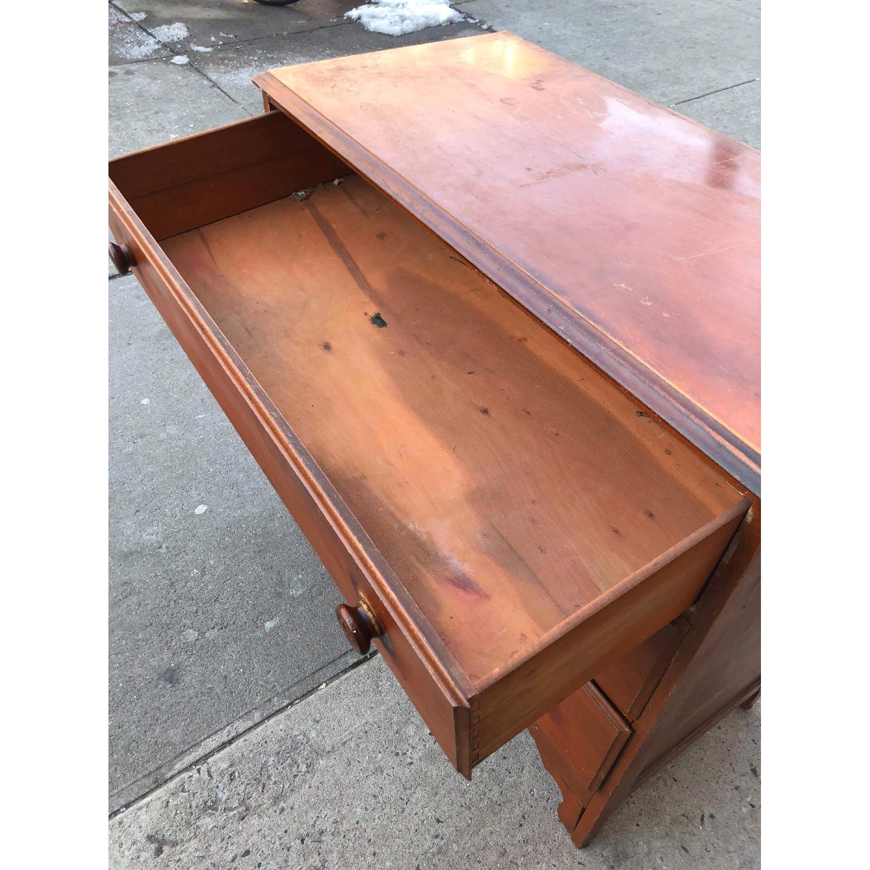 Antique 1930s Solid Wood 3 Drawer Dresser-7