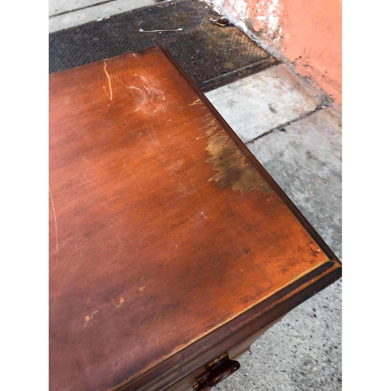 Antique 1930s Solid Wood 3 Drawer Dresser-8