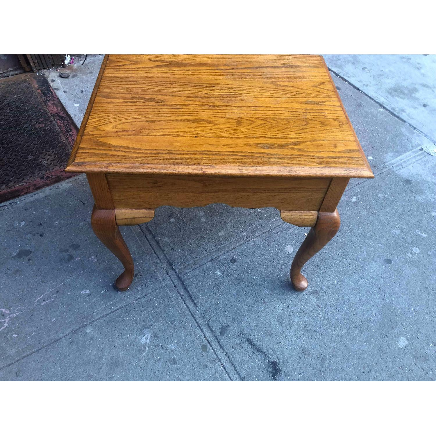 Broyhill Furniture Solid Wood Side Table w/ Drawer-5